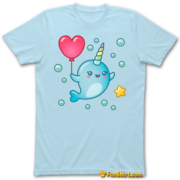 Tshirt Tee Shirt Cute Kawaii Narwhal