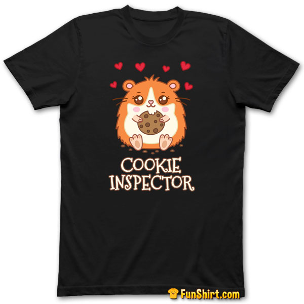 Tshirt Tee Shirt Cute Kawaii Hamster Cookie Inspector