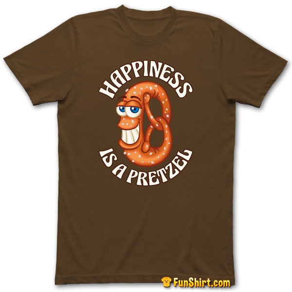 Tshirt Tee Funny German Soft Pretzel With Happiness Slogan