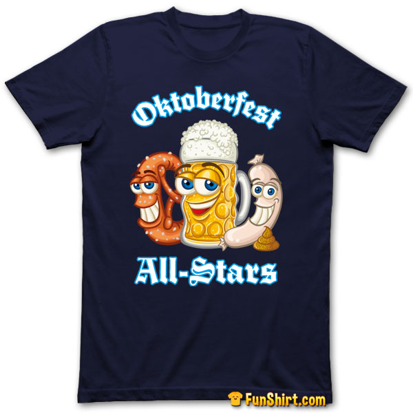 Tshirt Funny German Oktoberfest All-Stars Food